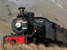 Steam Train makes its way over Patagonia plateau in Argentina